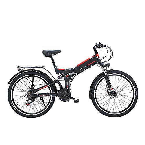 Pc-Glq 26 Zoll Herren Trekking- Und City Elektro Fahrrad Herren - 21 Gang Shimano Schaltung, Mittelmotor Performance Line, 300W Motor, 48V/10A Lithium Batterie,Schwarz