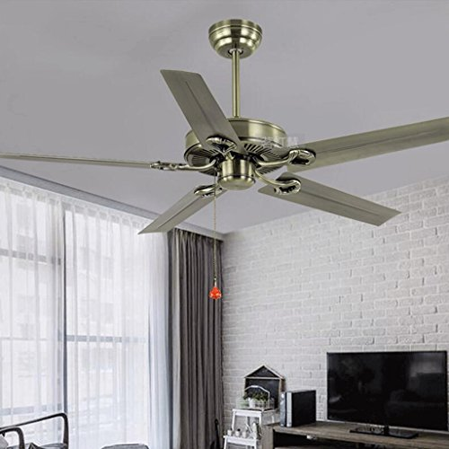Lampless Plafond Ventilator Restaurant Eenvoudige Zwarte Retro Industriële Wind Ventilator Iron Plafond Ventilator Woonkamer American Village Plafond Ventilator