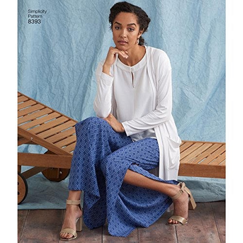 Simplicity Women's Pants, Tops, and Knit Cardigan Sewing Patterns, Sizes 20W-28W