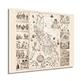 HISTORIX Vintage 1734 Map of the Philippines - 24x30 Inch Philippines Wall Art - Filipino Art Wall Decor - Philippines Poster - Carta Hydrographica y Chorographica de las Islas Filipinas (2 Sizes)