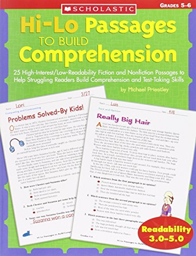 Download Hi-Lo Passages To Build Comprehension, Grades 4-5 0439548888