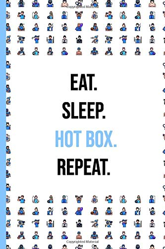 Hot box: Sport Journal / Notebook | 6x9 inch - Lined Paper - 120 Pages | Perfect Gift for Gym rat & fitness freak