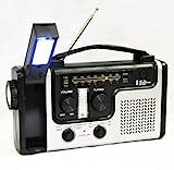 topAlert Emergency Solar Hand Crank Dynamo AM/FM/NOAA Weather Radio, Flashlight, Reading LED Light, Cell Phone Charger w/USB Adaptor
