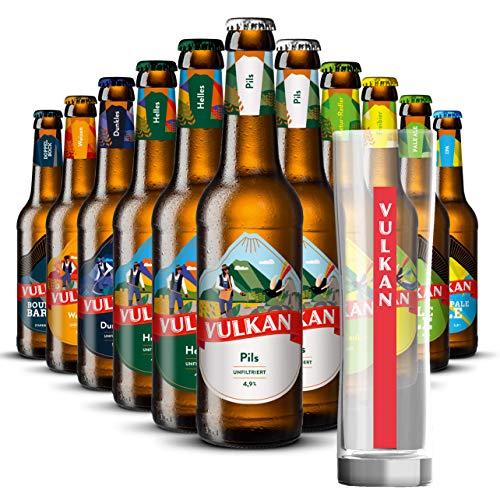 Bier Mix-Paket mit Glas: Vulkan Craftbier (8,24€/l)