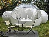 KGLOPYE Tienda Carpa Inflable de Burbujas Transparente, con túnel, Carpa Hinchable de exposición Comercial, Carpa Hinchable de jardín, 3,5