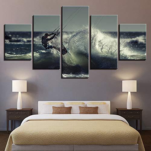 N/A Cuadro Decorativo de 5 Paneles Pinturas sobre Lienzo para Pared decoración del hogar 5 Piezas Impresiones HD imágenes de...
