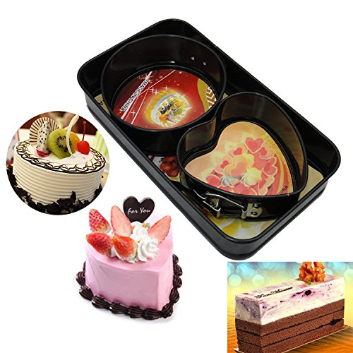 Non-stick cheesecake pan, rectangular cake pan, springform pan, removable backside, leak-proof and fast launch latch bakeware