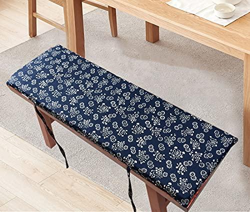 Xpnit Cojín largo para banco de jardín de 2/3 plazas, 100/120 cm, 2 cm de grosor, cojines largos para sillas de interior y exterior de cocina (K,80 x 35 x 2 cm)