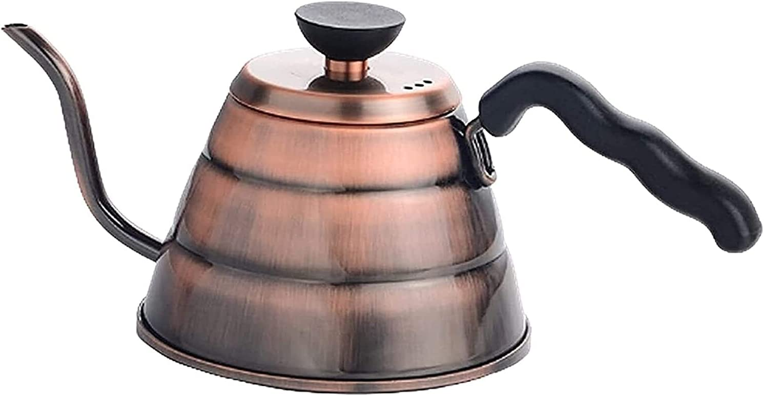 ZXYDD Coffee Pots Hand Made Stainless Steel Coffee Pot Retro Cof