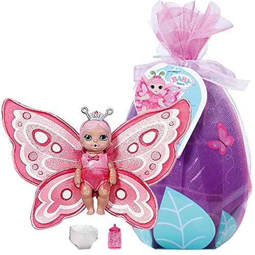 Zapf Creation 904336 BABY born Surprise Wings Serie 5, Mini Püppchen mit Flügeln und Trink- und Pipi-Funktion, inklusiv Zubehör - Charakter nach Vorrat