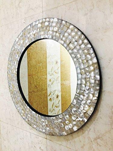 Espejo de pared para dormitorio con incrustaciones de nácar