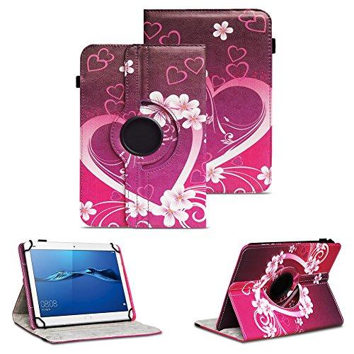 NAUC Tablet Tasche kompatibel für Huawei Mediapad X2 Hülle Schutzhülle Cover Schutz Hülle Drehbar, Farben:Motiv 3