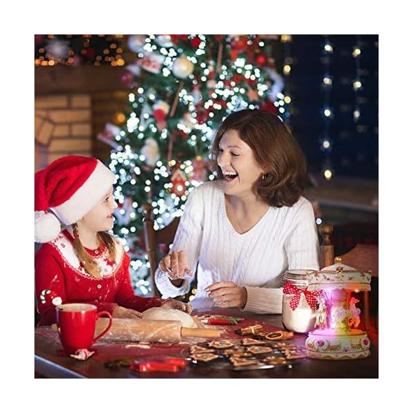 Dragon-Hub Music Box 3-Horse Carousel Gifts for Kids Children Girls Christmas Birthday Valentine's Gifts Decorations… 4