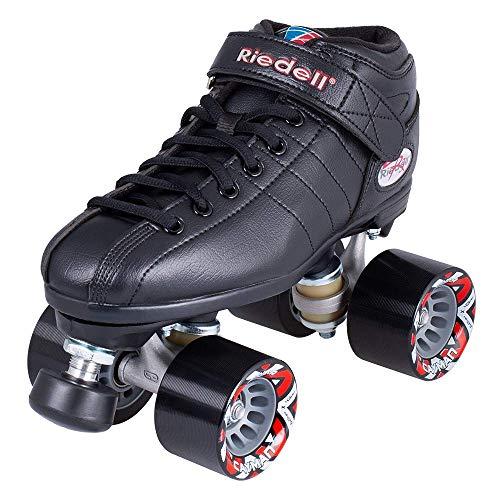 Riedell Skates - R3 - Quad Roller Skate for Indoor / Outdoor | Black | Size 5