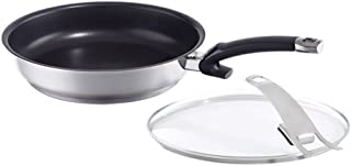 Fissler protect steelux premium / Non-Stick Fry-Pan, (11-Inches), Stainless Steel Cookware, Compatible-Stovetops: Induction, Gas, Electric, dishwasher-safe