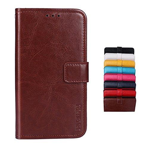 SHIEID Hülle für TP-LINK Neffos X9 Hülle Brieftasche Handyhülle Tasche Leder Flip Hülle Brieftasche Etui Schutzhülle für TP-LINK Neffos X9 mit Stand Funktion EIN Stent-Funktion (Braun)
