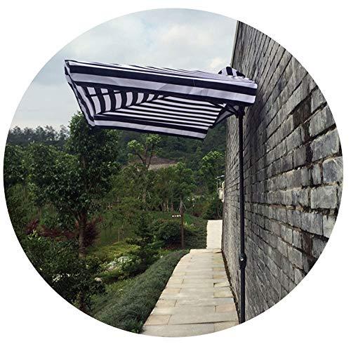Mezzo Ombrellone da Giardino,ombrellone Rettangolare con Design A Manovella, Ombrellone per Esterno in Metallo 38mm Pieghevole