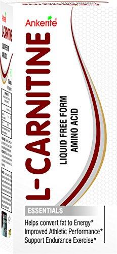 Ankerite L CARNITINE LIQUID FREE FORM AMINO ACID 450 ml (CONVERT FAT TO ENERGY)(PACK OF 3)