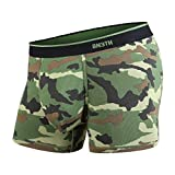 BN3TH Men's Classic Trunk Athletic Boxers - Breathable and Anti-Chafing Underwear with Our Patented Three-Dimensional MyPakage Pouch, Camo Green, Medium