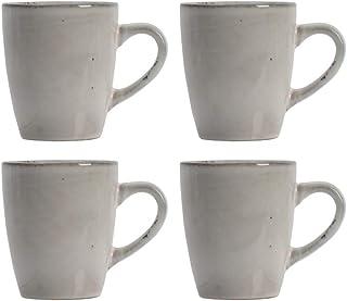 ProCook Oslo - Vaisselle de Table en Grès - Grande Tasse/Mug - 4 Pièces - Glaçure Réactive - Gris
