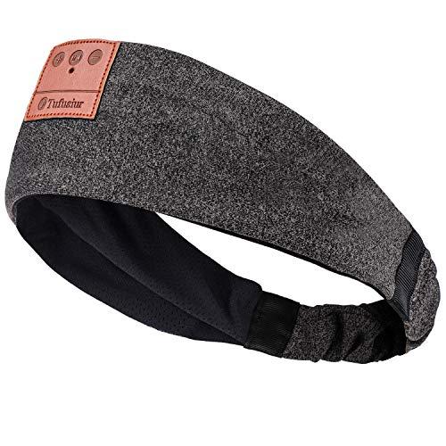 Sleep Headphones Bluetooth Headband, Tufusiur 2021 Upgrage Soft Elastic Band Sleeping Wireless Headphones Music Sport Headbands for Running,Yoga,Travel, Meditation, Gray