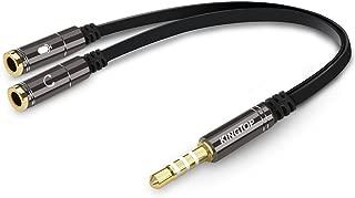 2 Unidades Lhthebox RCA Hembra a 6,35 mm Macho 1//4 Pulgadas Audio AUX Macho Jack Adaptador Chapado en Oro Conector