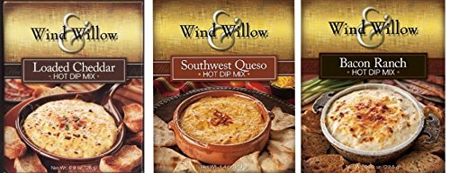 Wind & Willow Hot Dip Mix Variety Pack - Bacon Ranch, Southwest Queso, and Loaded Cheddar