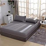 HPPSLT Protector de colchón - óptimo antiácarosFunda Protectora de una Pieza para sábana Antideslizante-5_160x200cm