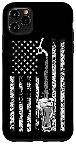 iPhone 11 Pro Max Funny Craft Beer Brewer Gift | Cute Brewery US Flag Lovers Case