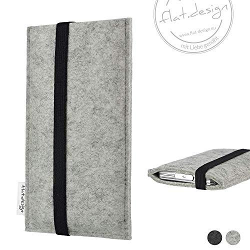 Handy Hülle COIMBRA - Filz Gummiband Tasche Case