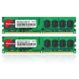 Kuesuny 4GB Kit (2x2GB) DDR2 800MHz DIMM PC2-6300 PC2-6400 1.8V CL6 240-Pin Unbuffered Non-ECC UDIMM Desktop RAM Memory Supports Dual Channel