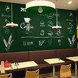 CQDSQN Papel pintado Pizarra tiza tienda de postres tienda de té restaurante Pintura de la pared Aut...