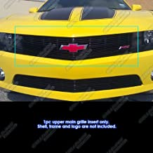 APS Compatible with 2010-2013 Chevy Camaro LT LS RS SS Black Billet Grille Grill Insert S18-H32766C