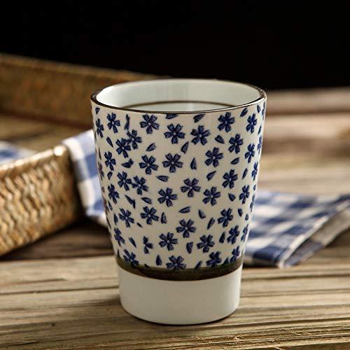 MU Reisebecher-Sets Kaffeetassen Bierkrüge Untertassen Teetassen Gläser Thermoskanne Wassertasse Keramiktasse Kreativer japanischer Stil und Wind Handbemalt Unterglasurfarbe Handbecher Antike Tasse M