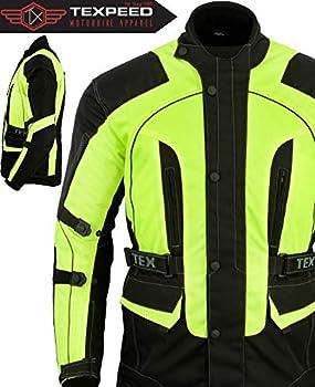 Veste de moto imperméable avec renforts CE - bandes réfléchissantes/haute visibilité - tailles M à 10XL - L - 111cm
