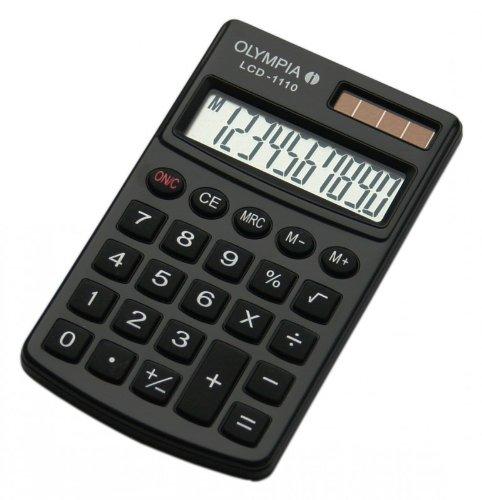 Olympia 941901001 Taschenrechner LCD - 1110, schwarz
