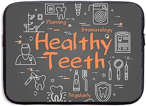 Healthy Teeth Concept On Black Laptop Portable 13inch Dua Sleeve SALENEW very popular! Milwaukee Mall
