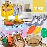 GODNECE Kinderherd, 14Teile Kinderküche Kochplatten Kinderküche Kochplatten Spielzeug