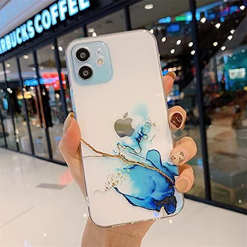 Jacyren Custodia per iPhone 11 Pro Max, in silicone trasparente per iPhone 11 Pro Max TPU Cover antigraffio antiurto trasparente custodia protettiva per iPhone 11 Pro Max (blu)