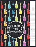 Cuaderno de notas de guitarra: Diario de papel de partituras en blanco - Acordes de guitarra, pentagrama estándar