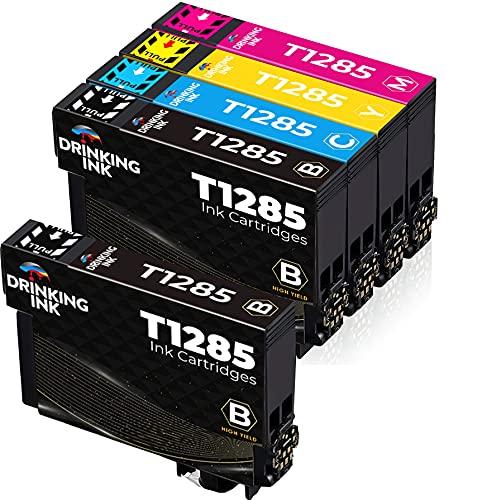 DRINKING INK Cartuchos de tinta de repuesto para Epson T1281, T1282, T1283, T1284, T1285, compatible con Epson Stylus SX125, SX235W, SX130, S22, SX445W, SX438W, SX435W, SX425W, 1 juego de 1 negro