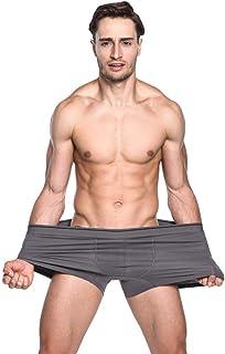 Pingtr Underwear for Men,Men's Hot Fashion Solid Colourful Comfortable 100% Cotton Underwear Plus Size