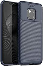 Huawei Mate 20 Pro carbon fiber TPU mobile phone case Mate20 Pro silicone shatter-resistant protective cover-blue