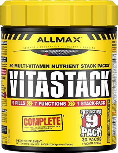 ALLMAX Nutrition Vitastack, Vitamin & Nutrient Stack Packs, 30 Pack