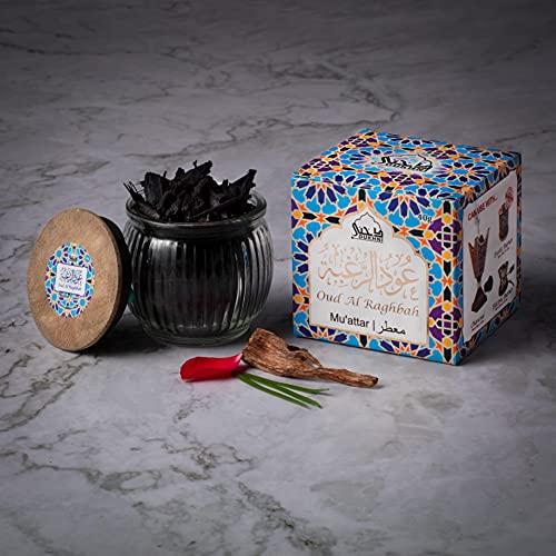 Oud Al Raghbah Muattar Bakhoor (1 Jar x 40g) Traditional Oud Bakhoor | For...