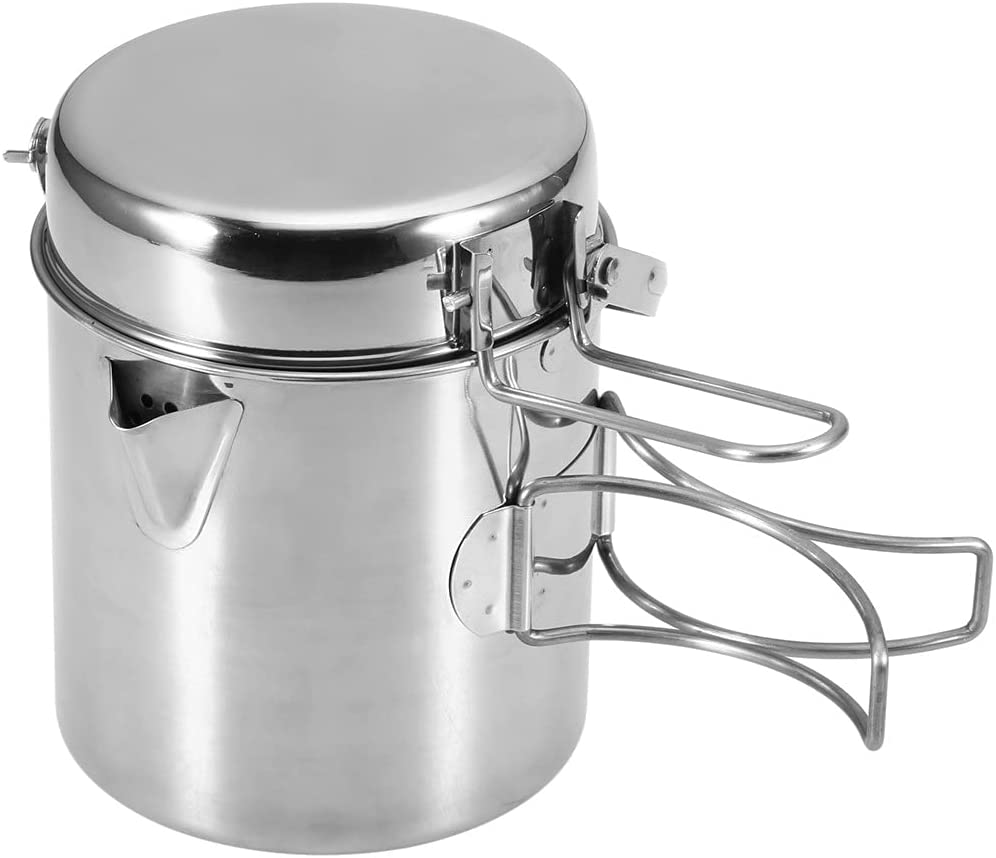 GLLP 1L Kettle Stainless Regular store Steel Portable store Cooking C Outdoor