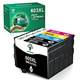 GREENSKY 603XL Remanufacturado para Epson 603 603 XL Tinta para Epson Expression Home XP-2100 XP-2105 XP-3105 XP-3100 XP-4105 XP-4100 XP-3105 XP-3100 Workforce WF2850 WF2835 WF2830 WF2810