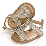 SOFMUO Infant Baby Girls Sandals with Tassel Soft Sole...