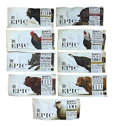 Epic - Epic Bars Variety Pack, 9 Flavors (9 Pack)