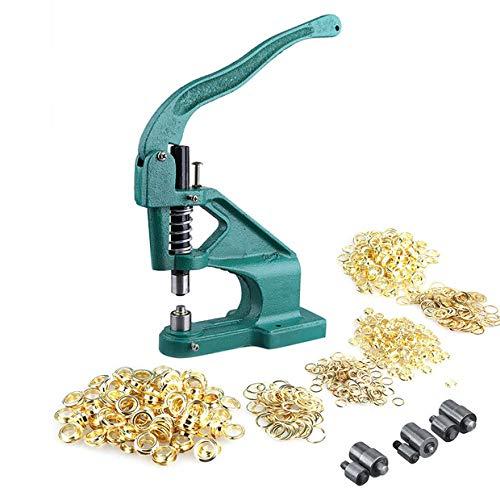 Ösenmaschine, Industriewerkzeug, mit 3 Matrizen und 900 Ösen (6 mm/10 mm/12 mm), für DIY Dekoration, Handwerk, Nähen, Vorzelt